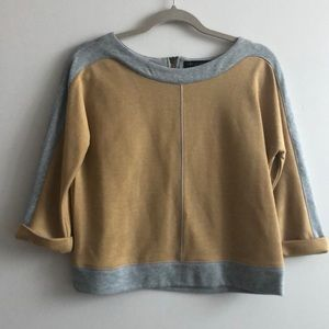 SANCTUARY Cropped Top | Yellow & Grey